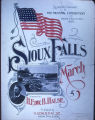 """Sioux Falls March"" by H. Edward B. Halse song sheet cover. Photograph. 1900"